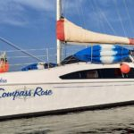 a modern catamaran sailing yacht